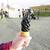 竹炭ソフトクリームのお味は!?@佐賀市