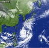 台風の為休校