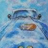 【クレパス+色鉛筆画】「青空の下で」