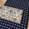 久留米絣とタッサーシルクの半巾帯