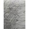 着物生地(397)秋草に梅模様手織り真綿紬