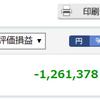 【株で大損】含み損が100万超えた!含み損が120万!大損ブログとなってしまう