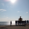 志賀町の富来八朔祭礼の海岸渡御は海と太陽と神輿がきれい
