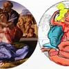 ミケランジェロ「聖家族」は大蛇の食人画