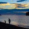 白兎海岸の夕日