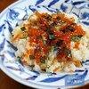 本日の朝食はイクラ醤油漬けのちらし寿司<おうちごはん>