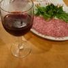 サイゼリヤのワインとサラミ、エスカルゴが美味い。