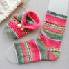 Opal毛糸で編む つま先のない靴下(3) 片足完成