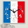 壁掛け時計 アクリル素材 角形/円形 23cm/30cm フランス国旗/猫(ネコ)×フランス国旗 | MYCLO(マイクロ)