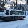 函館のバスがパトカー仕様