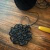 久しぶりの雨の日にドイリー編み始めました