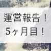 【運営報告 (5ヶ月目)】PVも収益も微増!