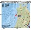 2016年07月14日 12時21分 秋田県沿岸北部でM2.1の地震