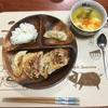 ポテサラ餃子と溶き卵スープ