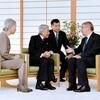 両陛下とIOC会長、皇居で初めての会見