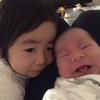 産後20日、次女順調に成長。長女は少々嫉妬。