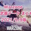 【 CoD:Warzone】シーズン5強武器データまとめ 2021.9.9版