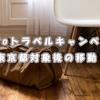 GoToトラベルキャンペーン 東京都対象後の移動