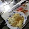 幸運な病のレシピ( 1420 )昼 :フレンチトースト、サラダ、朝の味噌汁