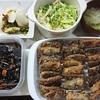 さんまの竜田揚げ、白菜漬物、ひじき、味噌汁