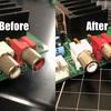 CPS2マザーボードの錆びついたRCA端子を交換