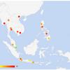 留学前に知っておきたい!東南アジアの汚染度 2018年度(11月29日現在、NUMBEO調べ)
