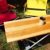キャンプ用ウッドテーブルを作ってみた|アルミスタンドを利用してアウトドアローテーブルをDIY
