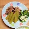 【春の旬な食材】ふきと豚肉のきんぴらの作り方。