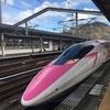 念願のキティちゃん新幹線に乗って広島チョコラを食べに行きました!キティちゃん新幹線の中は「かわいい」がいっぱいです!