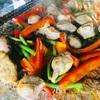 キャンプ男子メシ部(夜ご飯) BBQにオススメ 砂ずりとニンニクの芽の炒め物