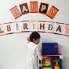 祝!息子の1歳の誕生日!息子、一升餅を担ぐ