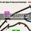 F1 ベルギーグランプリ 2019 コース概要と2018年振り返り