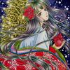 「聖誕姫」色鉛筆&鉛筆オリジナル平安イラストスキャン画像アップ:「魔法少女まどか☆マギカ」途中まで見れました