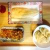 塩鯖、ヤーコン天、切り干し大根玉子焼き、チキン
