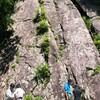 雑穀谷岩登り訓練