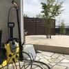 汚庭からお庭へ その6 ケルヒャーの高圧洗浄機で石が削れる