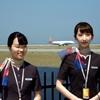 アシアナ航空  A350-900 が初就航の関空   メガソーラー展望ゾーンから