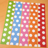キャンドゥ大判折り紙の端紙でマステ封筒を作る ドット柄編