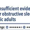 ACPJC:Therapeutics 無症状患者に対する閉塞性睡眠時無呼吸症スクリーニング効果は不十分
