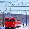 雪景色の中のしなの鉄道を撮影してきました その2