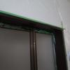 風呂場の入口の塗装