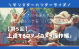 【モンハンライズ】初心者が上達するコツ「カメラ操作編」