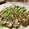 【レシピ】青のり薫る♬タコと紅生姜のもちもちネギ焼き♬
