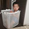洗濯カゴは入るものです・・・?!