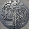 岡崎市のマンホールの蓋(2)親子蓋もあり
