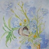 2019年:4月『春を描く(3) - 浦島草・姫シャガ』