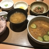 定食春秋(その 73)納豆朝食+冷や汁単品