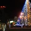 室蘭市 冬にともる東室蘭駅西口のイルミネーション