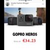 【注意】インスタにGoPro破格セールのスパム広告が蔓延中