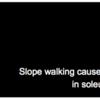 坂道歩行が足関節底屈筋の痙縮を改善させる?